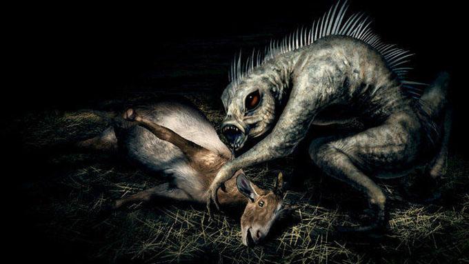 家畜を襲うチュパカブラ
