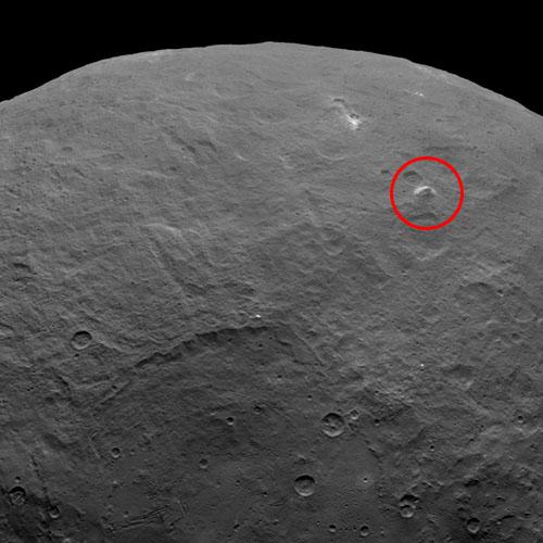 準惑星ケレス表面の正体不明の構造
