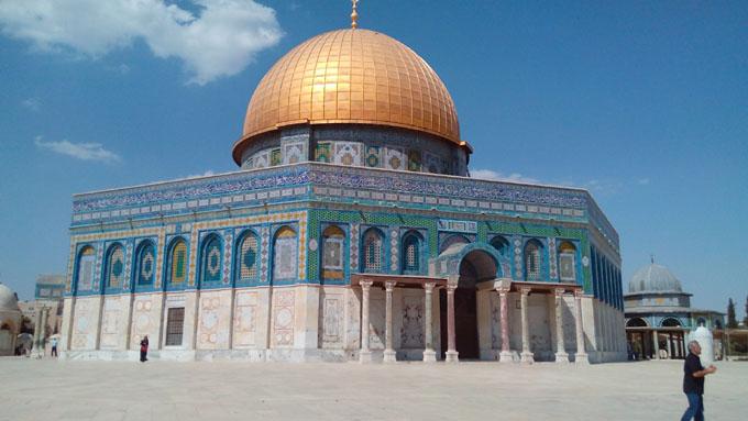 エルサレム。岩のドーム