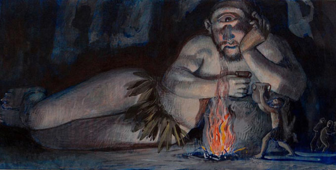 ギリシャ神話のティタン族に登場する「一つ目巨人キュクロプス(Kyklops)」