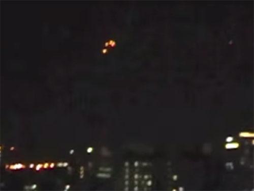 UFOフリートが沖縄那覇上空に出現1