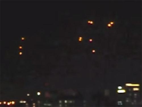 UFOフリートが沖縄那覇上空に出現2