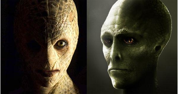 レプタリアン(爬虫類型人類)のイメージ