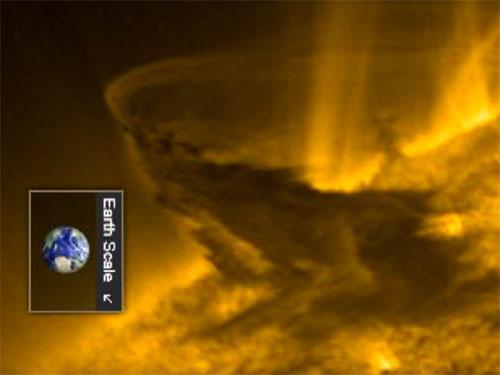巨大な太陽フレア