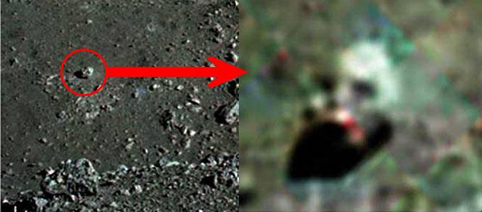 アポロ17号で撮影されたロボットのような頭部