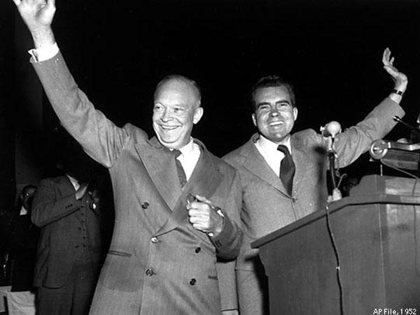 アイゼンハワー大統領とニクソン
