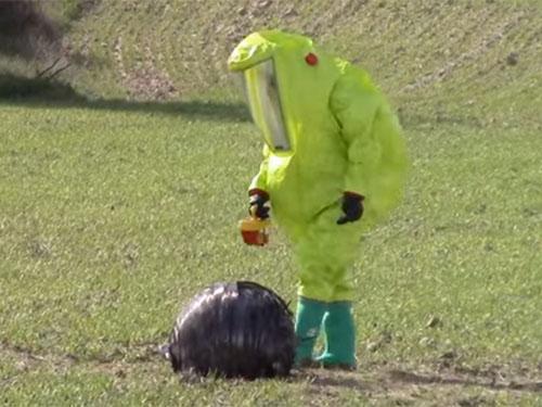 UFO? 宇宙ゴミ? スペインの農村に落下した謎の物体