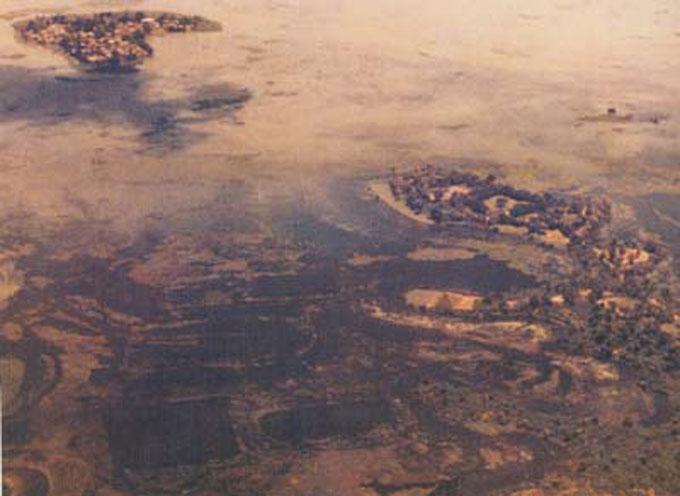 バード少将が撮影した地底国の写真