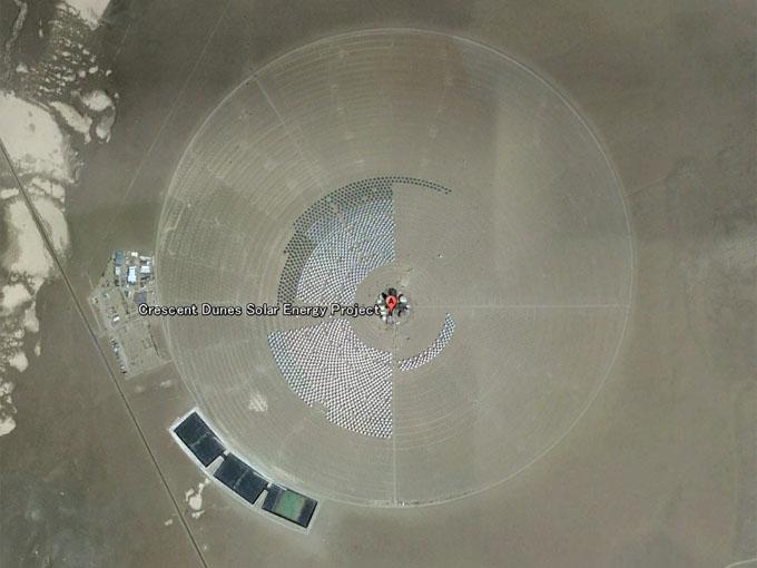 太陽光発電所「ISEGS」を、グーグルアースで確認
