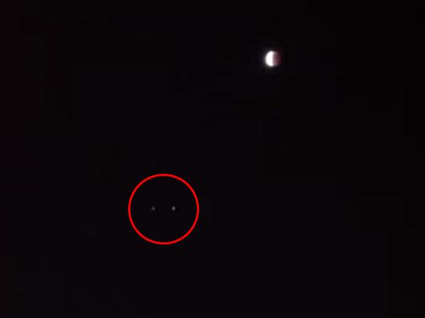 皆既月食の夜、北九州市に現れたUFO
