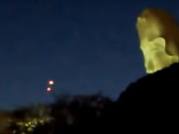 交差する二機のUFOが、鎌倉市の大船観音付近で撮影される!