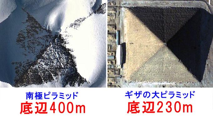 南極ピラミッドの大きさ