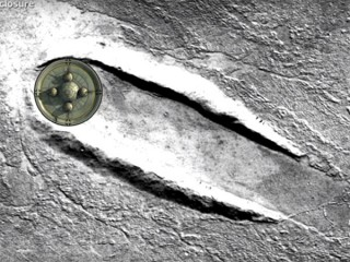 火星に巨大UFOが不時着した形跡! グーグル火星で発見される!