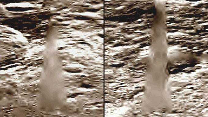 月面のクリスタルタワーの拡大写真