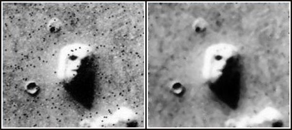 バイキング1号が撮影した人面岩