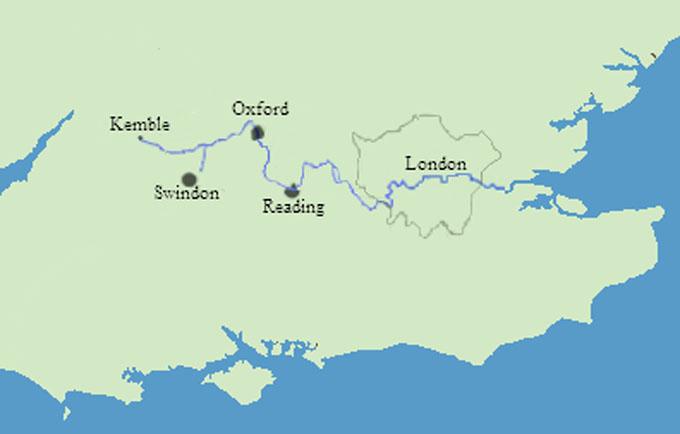 テムズ川の地図