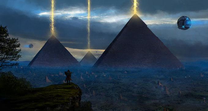UFOを呼ぶピラミッドパワーのイメージ