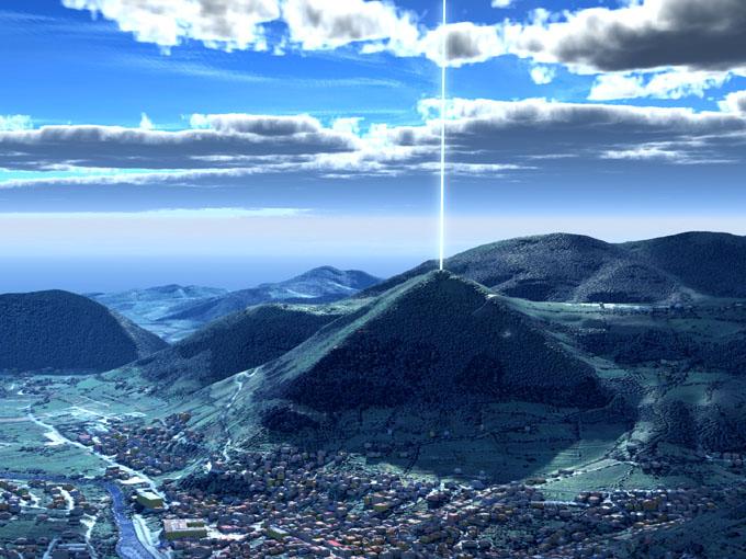 頂上からエネルギー・ビームを出すボスニアのピラミッド