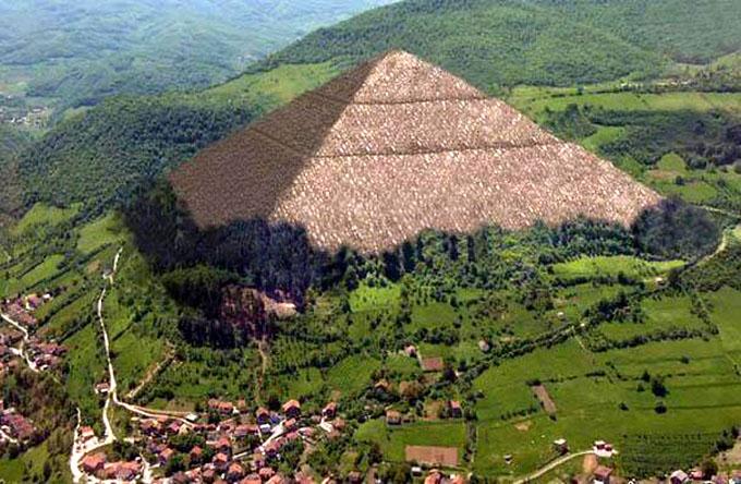 ボスニアの太陽のピラミッドのイメージ