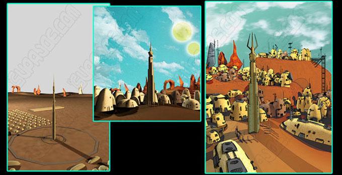 惑星セルポの集落