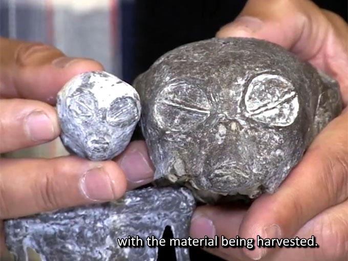 ペルーで発見された宇宙人のようなミイラの顔