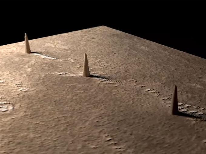 火星のトリプルタワーの3Dモデル