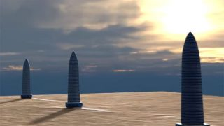 火星に超巨大なトリプルタワーを発見! 火星文明の古代遺跡か、火星人が今も活用している施設か?