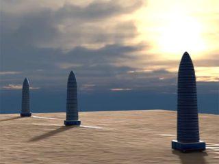 火星に超巨大トリプルタワー! 火星文明の古代遺跡か、火星人の施設か?