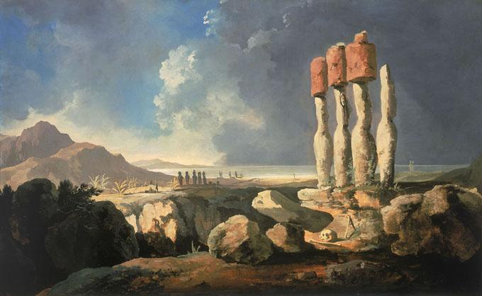 1774年にイギリス人探検家のジェームズ・クックは上陸した際のイースター島