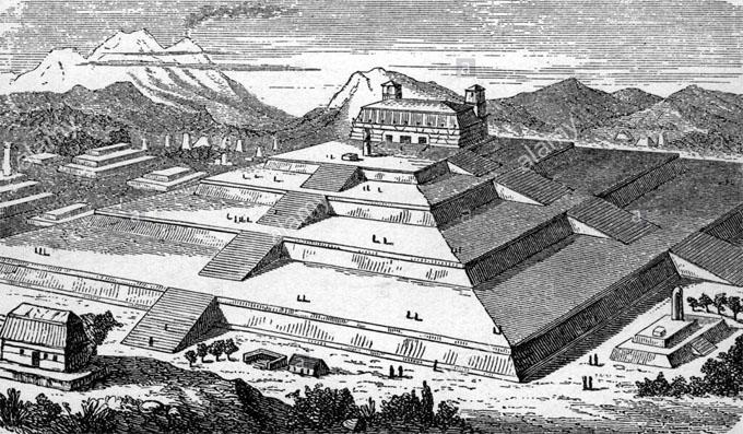 スペイン人に征服される前のチョルーラの大ピラミッド