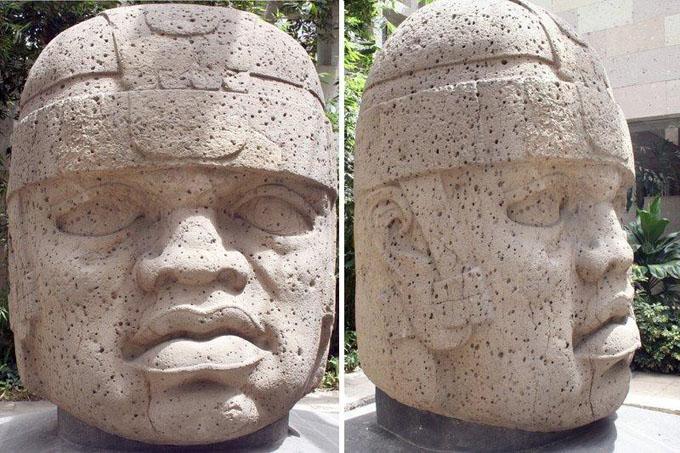 オルメカ文明の巨石人頭像