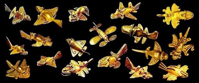 コロンビアの黄金博物館に収蔵されている黄金ジェット