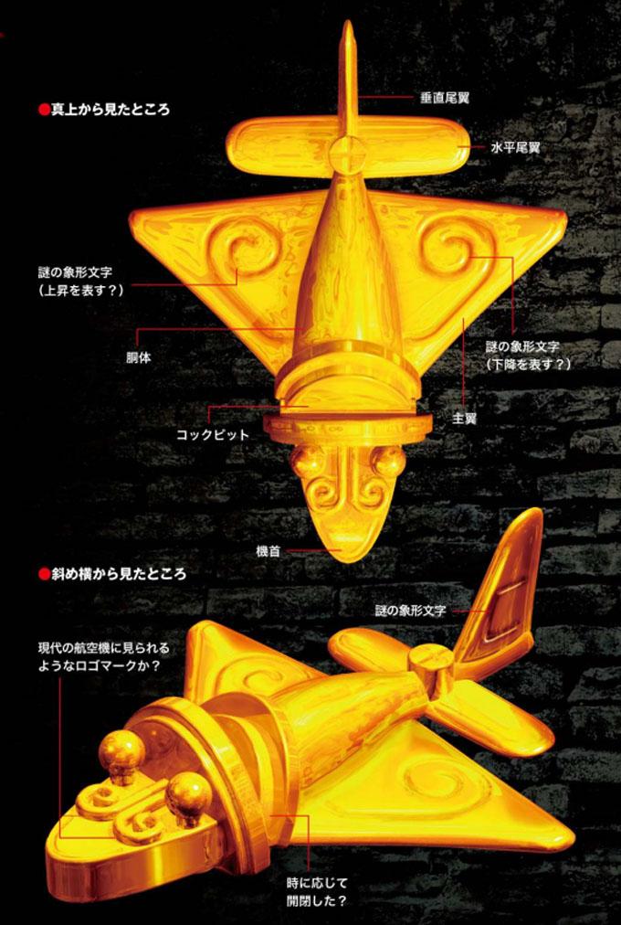 黄金ジェットの復元イラスト