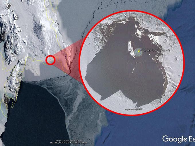 グーグルアースで発見された水中のUFOの場所