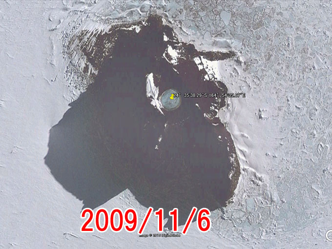 2009年11月6日のグーグルアースの画像