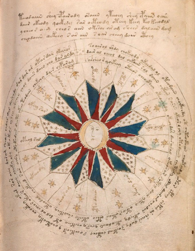 ヴォイニッチ手稿【第2部】 天文学もしくは占星術のページ1