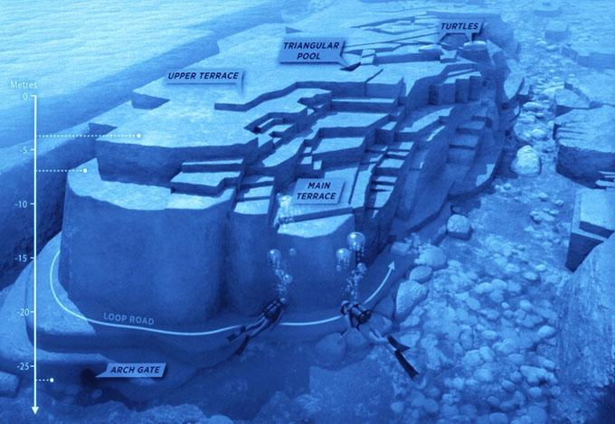 与那国島の海底遺跡全体