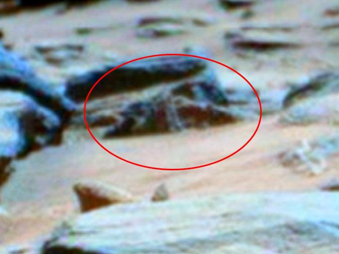 火星で発見されたアンティキティラ島の機械の拡大写真