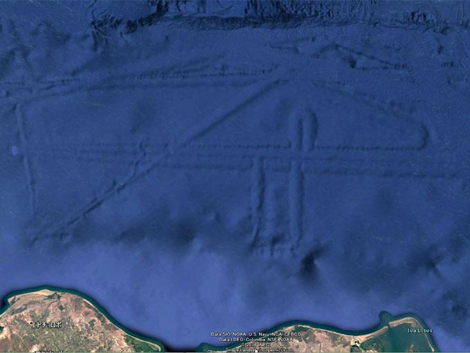 メキシコ沖の海底遺跡