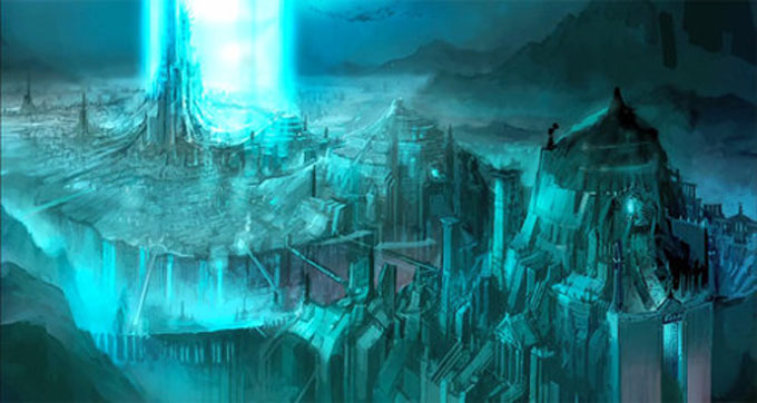 宇宙人の海底都市のイメージ