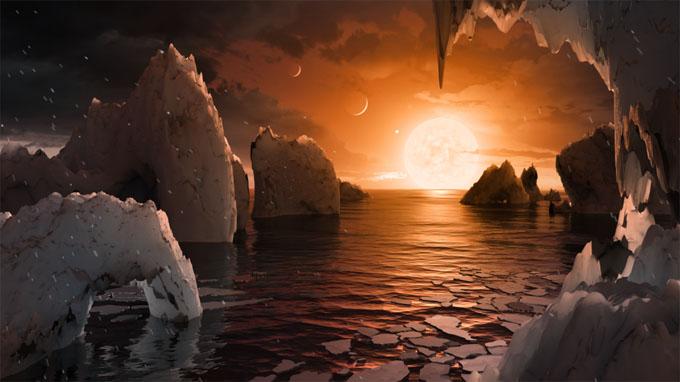トラピスト1の惑星の風景イメージ