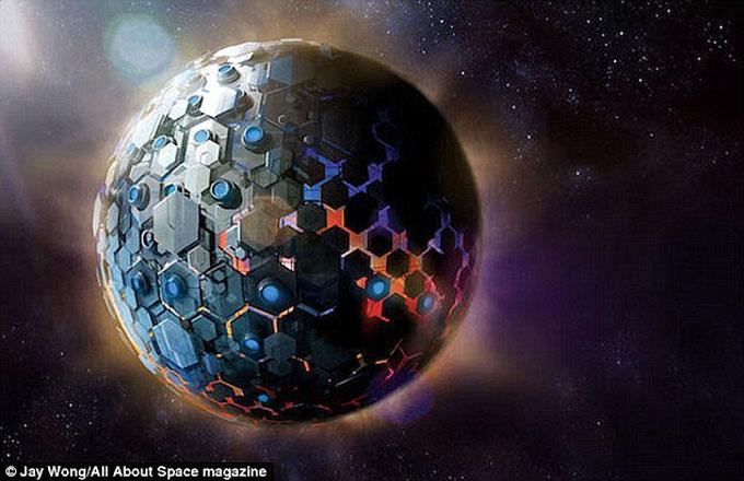 恒星を覆ったダイソン球のイメージ