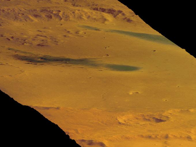 ESA(欧州宇宙機関)のマーズ・エクスプレスが撮影した火星の地表