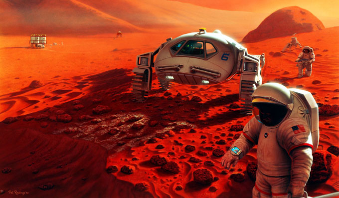 火星への有人飛行