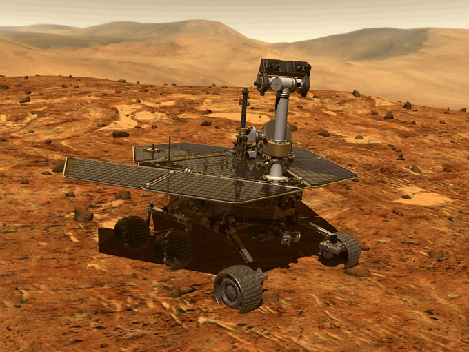 火星探査車スピリットのイメージ写真