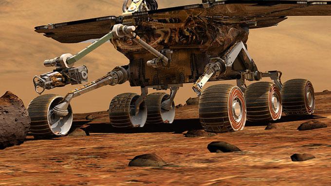 火星探査車スピリットのタイヤ