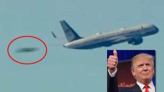 トランプ大統領の就任日に、二機のUFO! 決定的な瞬間をテレビカメラが捉えていた!