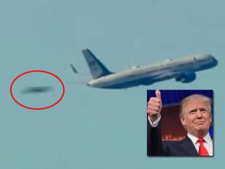 トランプ大統領の就任日、二機のUFO! TVカメラが決定的瞬間を捉えた!