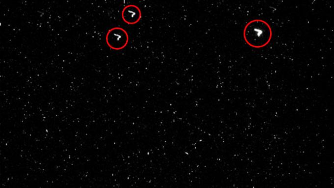 3機のV字型UFO