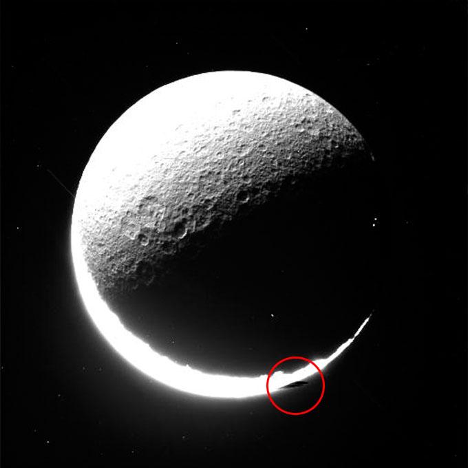 衛星レアの複数のUFO 1